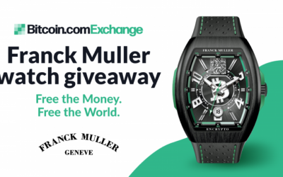 """Win a Limited Edition Franck Muller Bitcoin Cash Watch """"Free the Money. Free the World."""" With Bitcoin.com Exchange"""