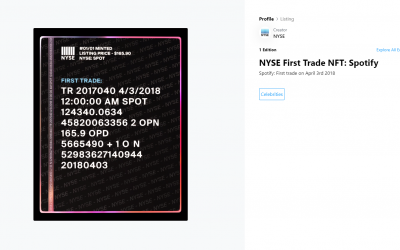 NYSE celebrates historic 'first trades' with NFT series