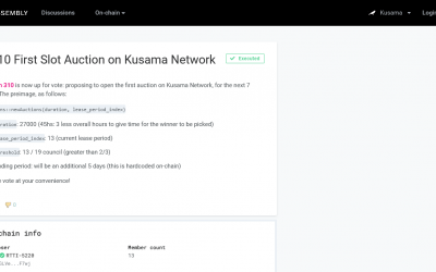 Another first for Polkadot as Kusama council approves first parachain slot auction